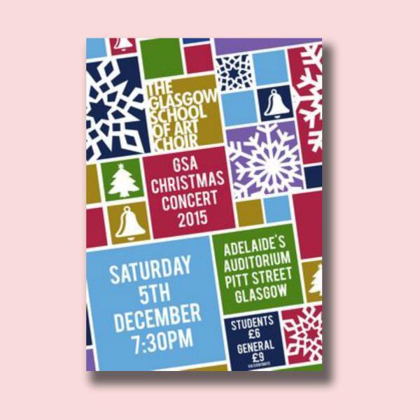 christmas concert digital marketing flyer