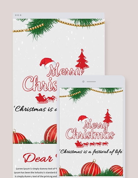 christmas festival email newsletter template