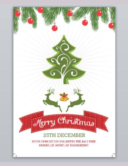 christmas holiday flyer