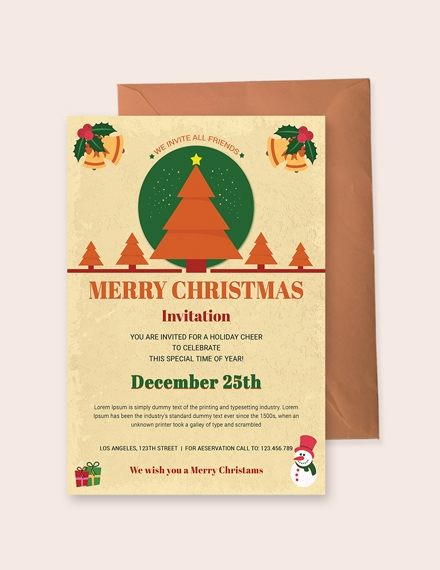 christmas holiday invitation template