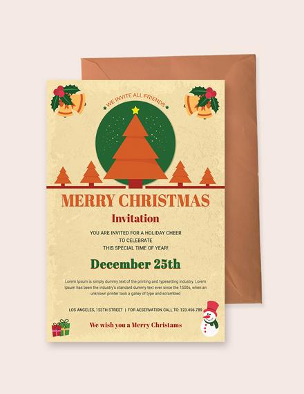 Christmas Holiday Invitation Template