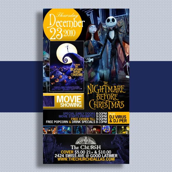 christmas movie event flyer