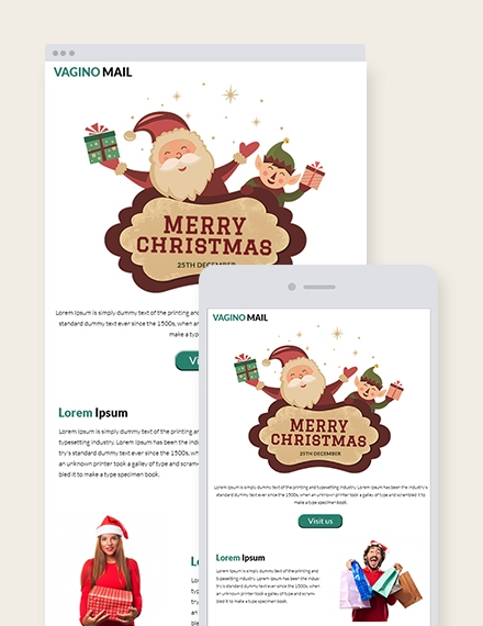 christmas promotion newsletter template