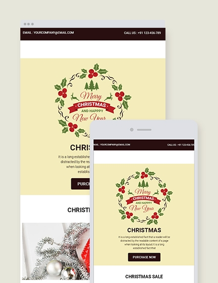 christmas sale email newsletter template