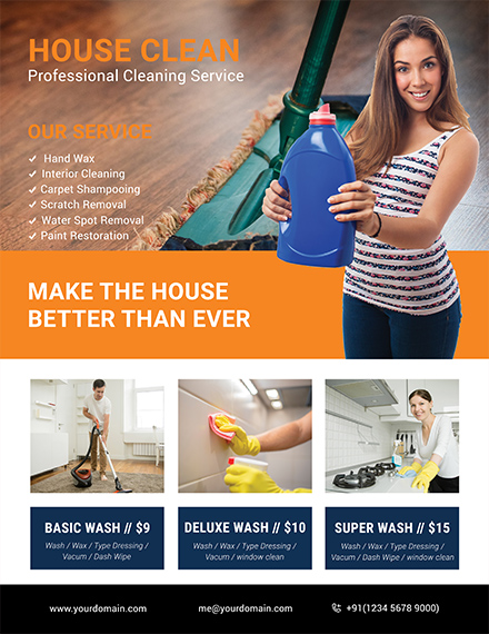 cleaning company flyer template
