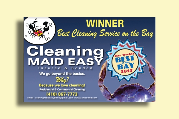cleaning maid flyer ad
