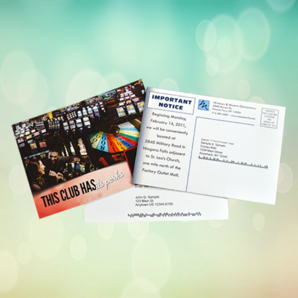 club business postcard