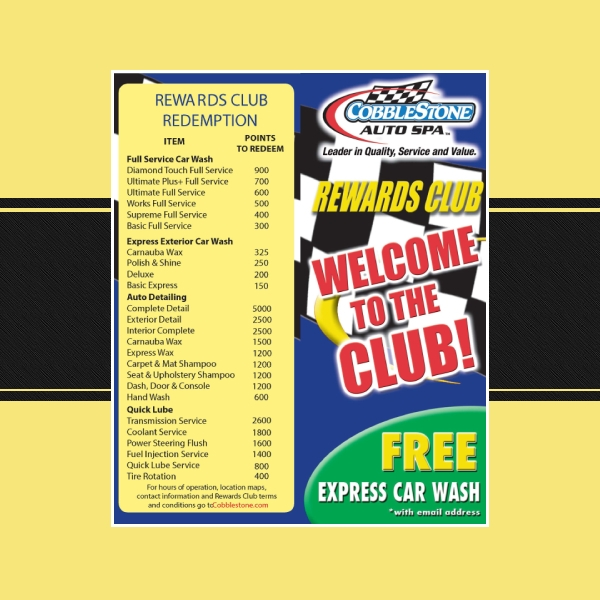 cobblestone car wash flyer