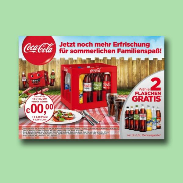coca cola digital marketing flyer
