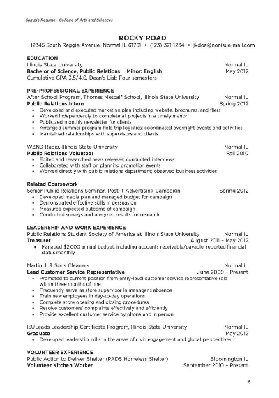 college of education minimalist resume