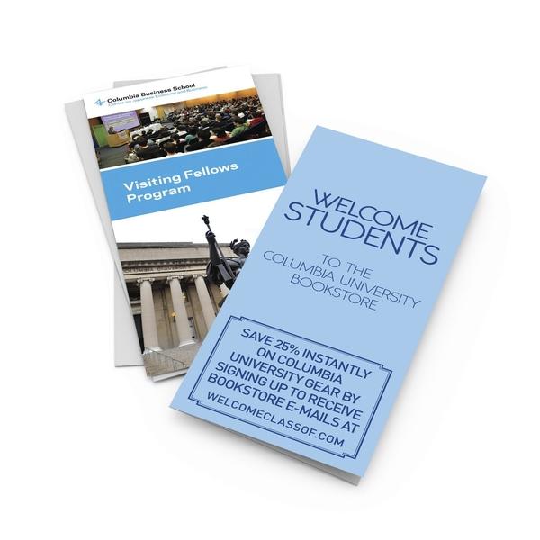 columbia university stacked brochure