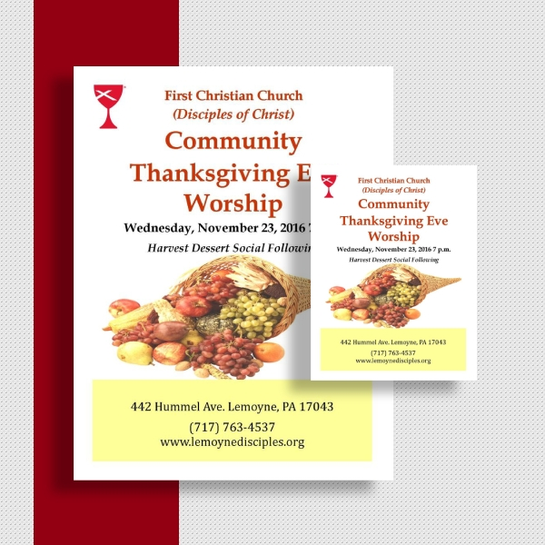 community thanksgiving worship event flyer