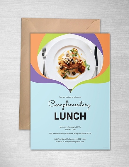 complimentary lunch invitation