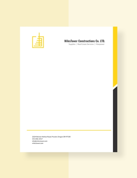 construction letterhead