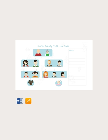 cousin family tree for kids