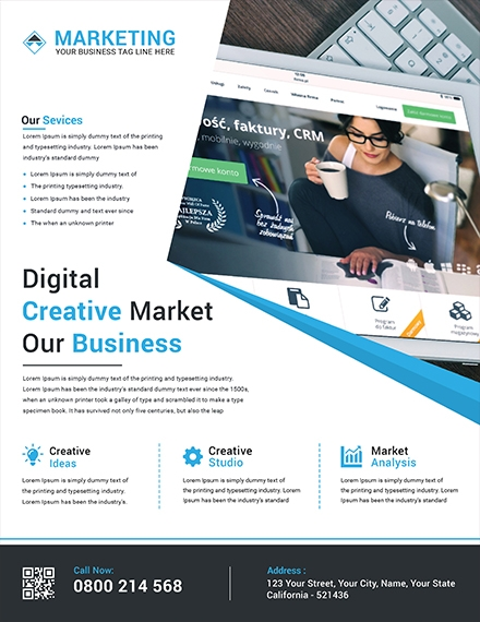 creative marketing flyer template