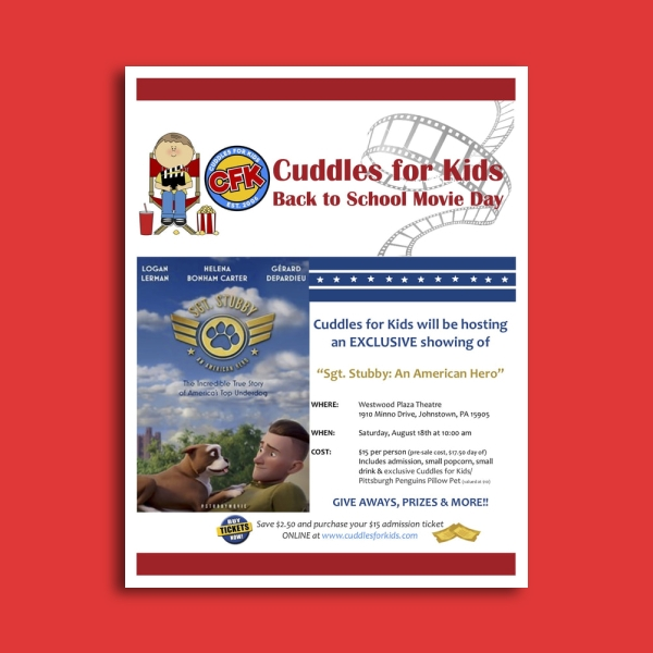 cuddles for kids day care flyer