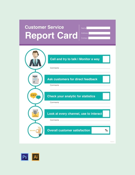 customer service report card