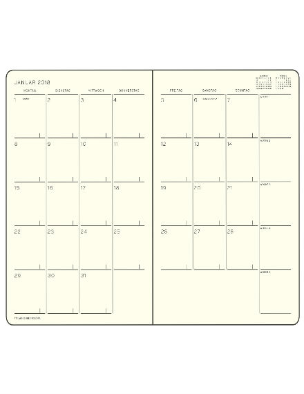 Customized Monthly Planner