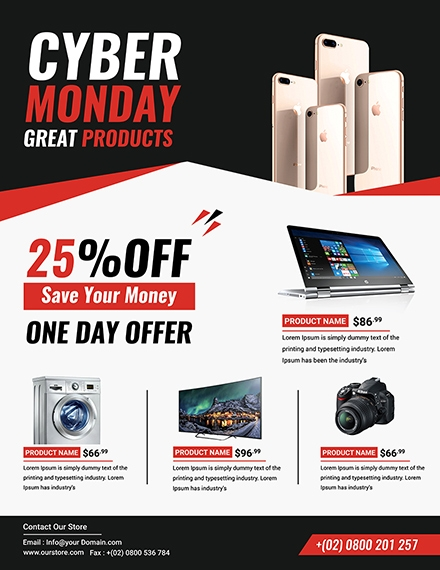 cyber monday discount flyer