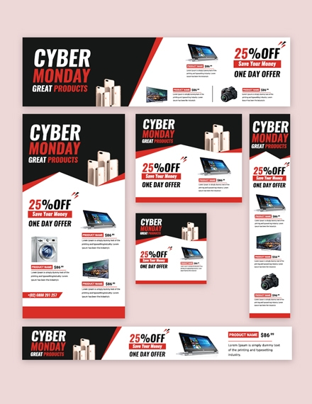 cyber monday web ad banner
