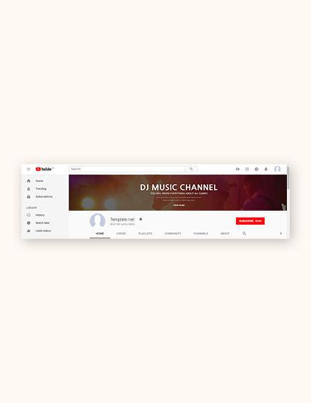 dj youtube channel