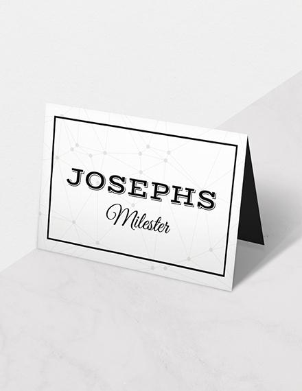 du wedding place card