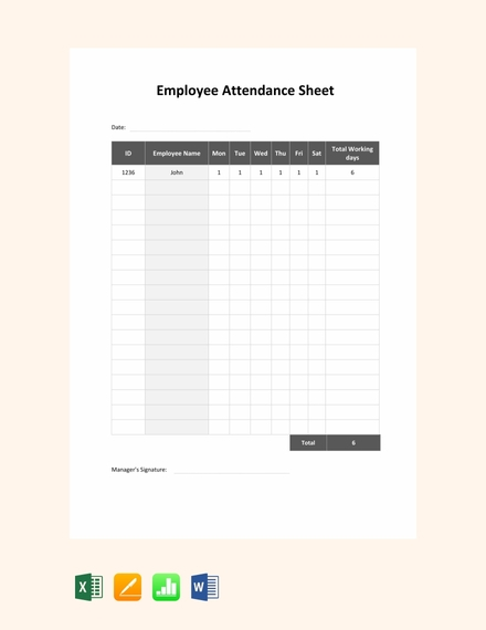 daily employee attendance sign in sheet