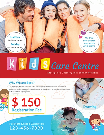 day care center flyer