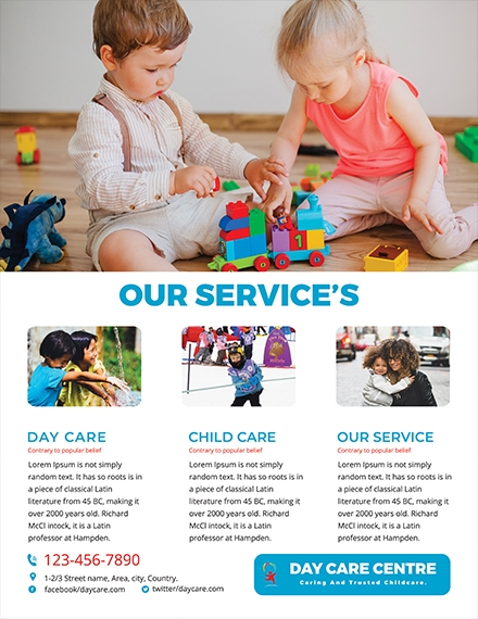 day care center service flyer
