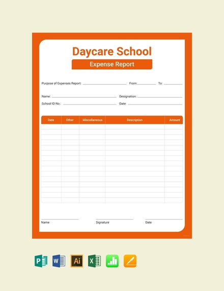 daycare expense report template1