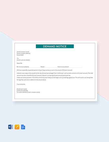 demand notice template