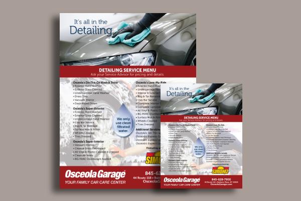 detailing car service flyer