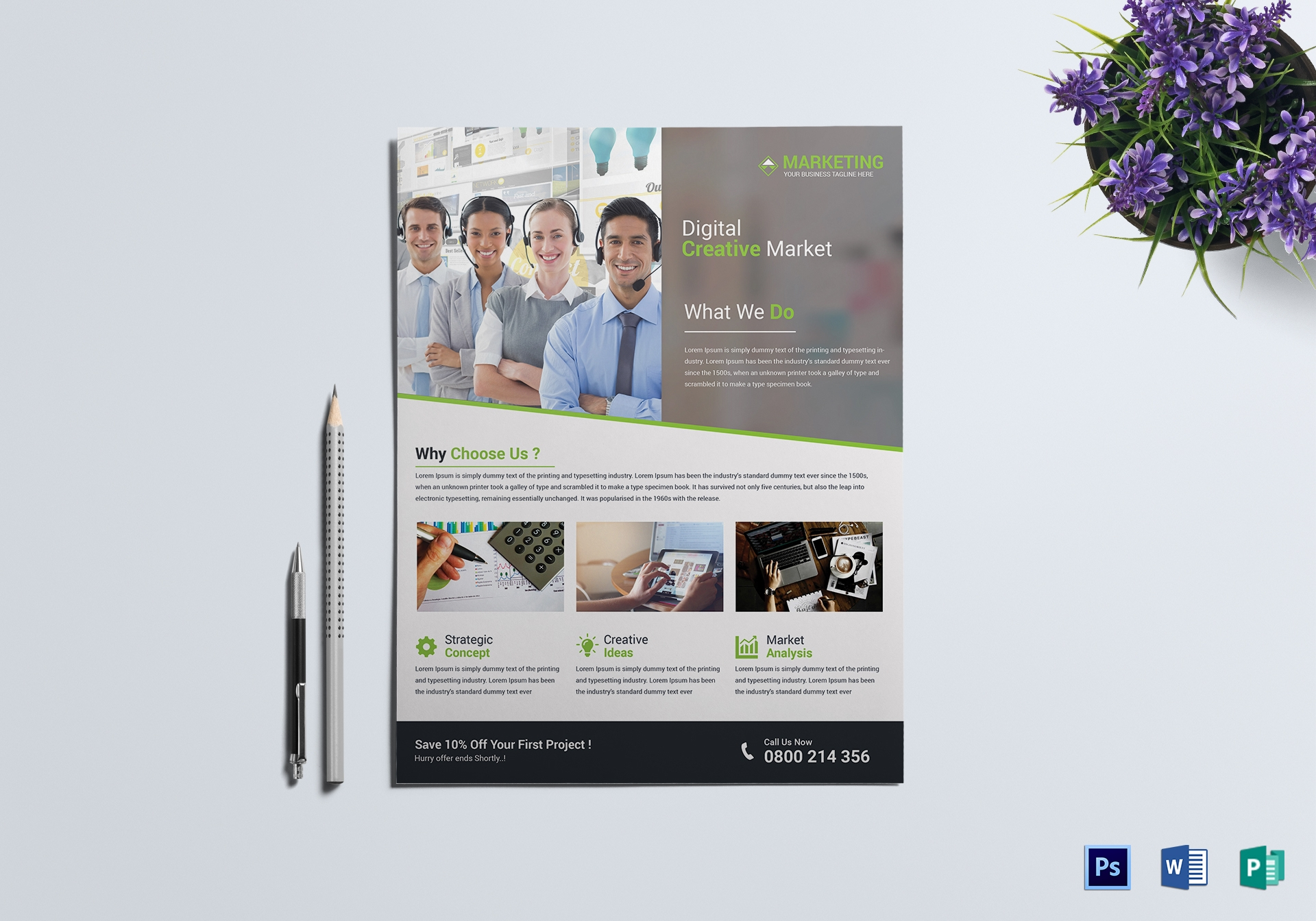 digital creative marketing flyer