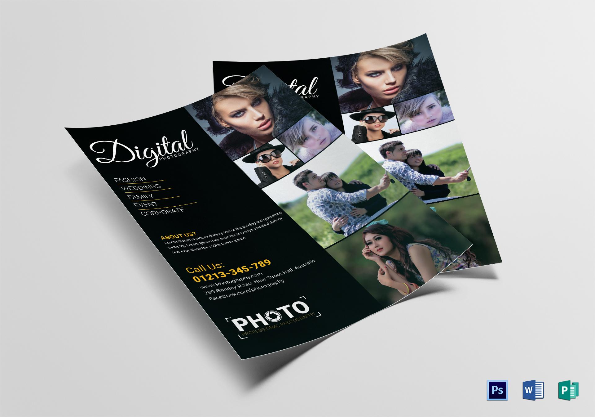 digital photography marketing flyer