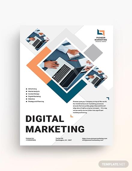 23+ Digital Marketing Flyer Examples, Templates, & Design ...