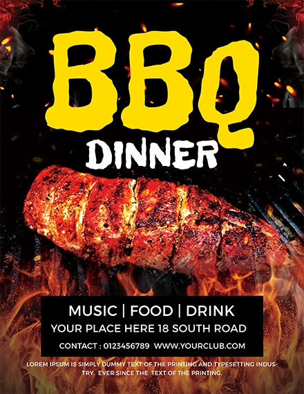 Dinner BBQ Flyer