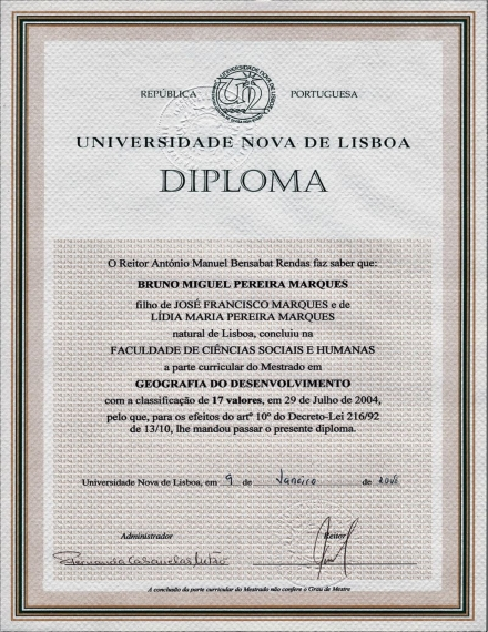 diploma from portugal