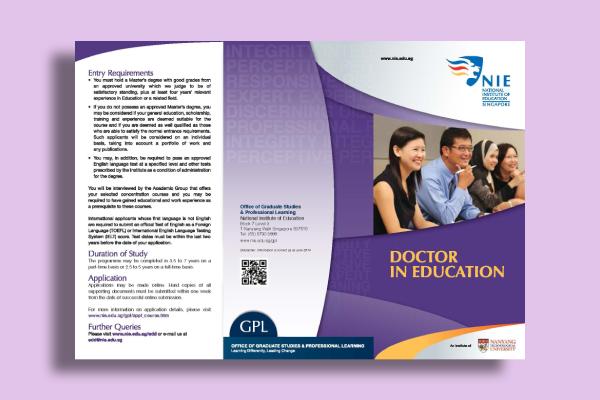doctor in education flyer