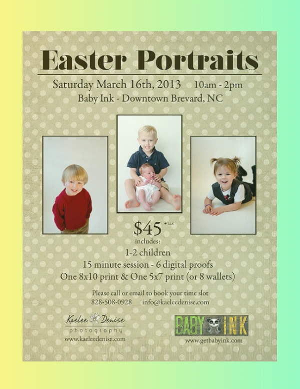 easter portraits photography flyer
