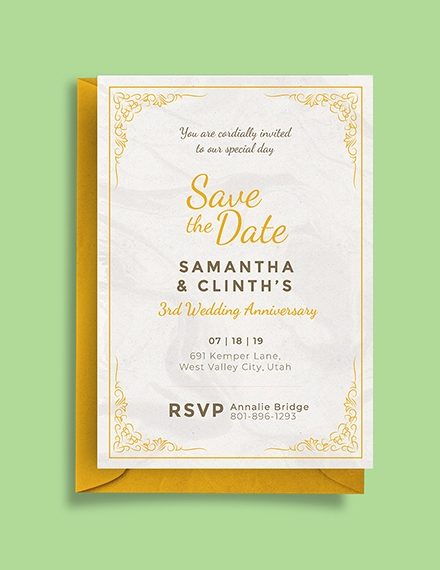 editable anniversary invitation