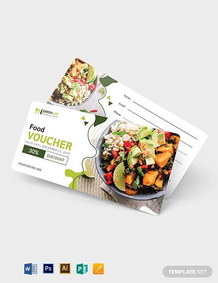 editable food voucher template