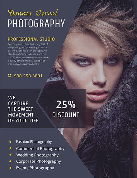 editable photography flyer