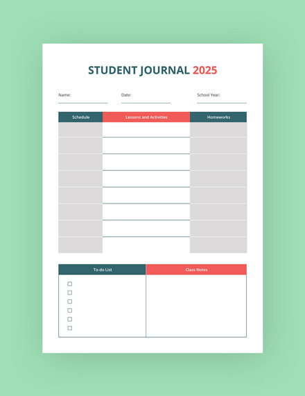 education journal template