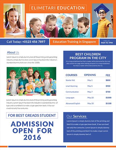 education tutoring flyer