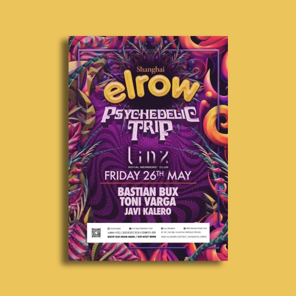 elrow party flyer