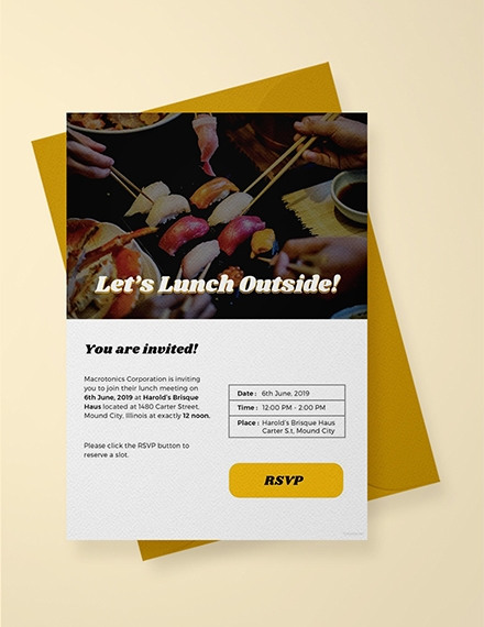 email lunch invitation