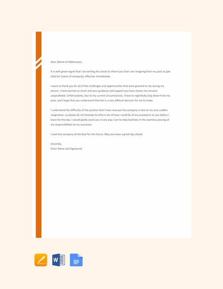 21 Resignation Email Examples Doc Examples