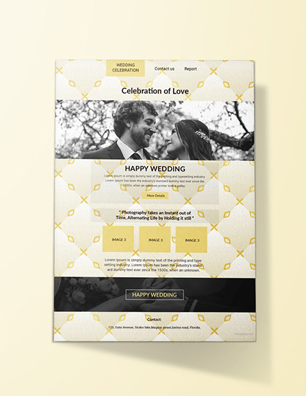 email wedding invitation template