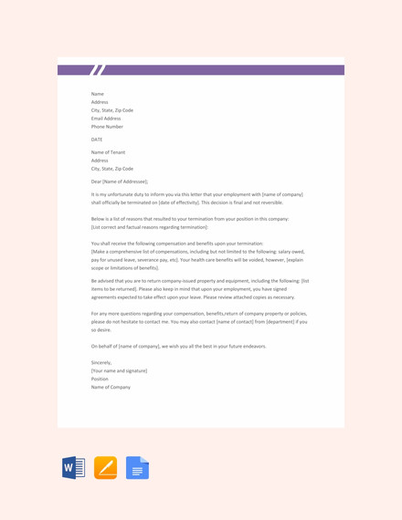 employee termination letter template1